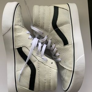 Vans white/black hi top